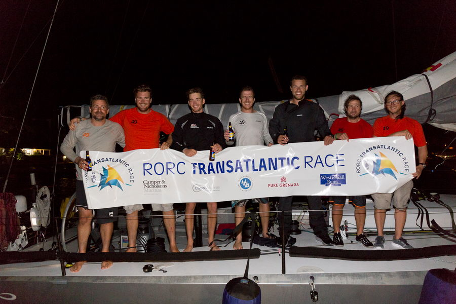 """Infiniti 46 """"Maverick"""" wins division and achieves 2nd overall in the RORC Transatlantic Race 2016"""