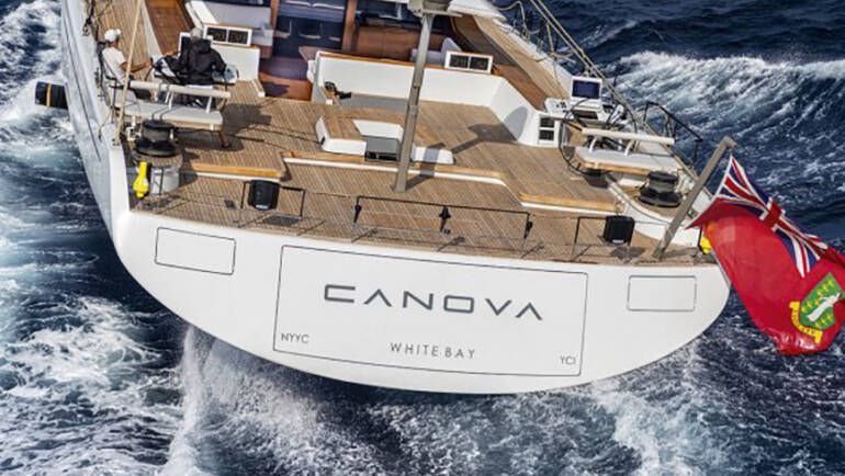 Canova – The foiling superyacht designed for comfort