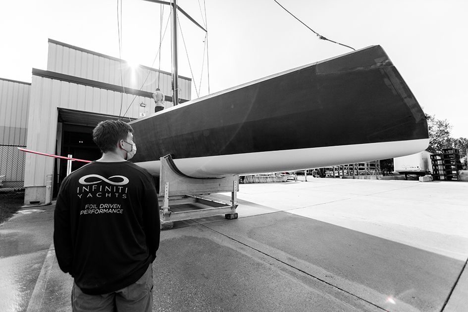 Foiling and Beyond: Foil-driven sailing yacht specialist, Infiniti Yachts has revealed the first Infiniti 52.
