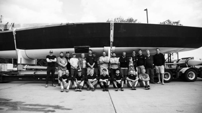 The Infiniti 52 Hull No 1 Departs USA